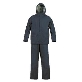 MOSSI SX Series Navy Blue PVC Heat-resistant Elastic Waist Rainsuit