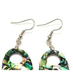 Pearlz Ocean Abalone Shell Dangle Earrings - Thumbnail 1