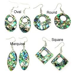 Pearlz Ocean Abalone Shell Dangle Earrings