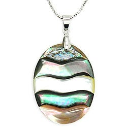 Pearlz Ocean Abalone Oval Fashion Pendant