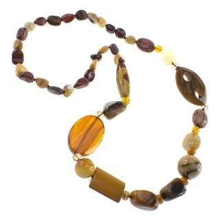 Pearlz Ocean Mookite and Agate Bead Fashion Necklace