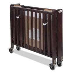 Foundations HideAway Folding Fixed-Side Full-Size Crib in Antique Cherry - Thumbnail 1
