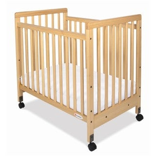 Foundations SafetyCraft Compact Fixed Side Slatted Crib in Natural