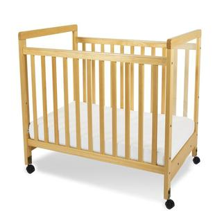 Foundations SafetyCraft Compact Fixed Side Clearview Crib in Natural