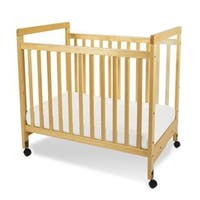 Foundations SafetyCraft Compact Fixed-side Natural Wood Clearview Crib
