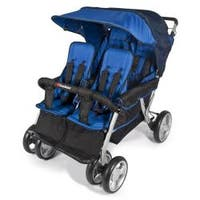 Foundations The LX4 4 Passenger and Dual Canopy Folding Stroller in Regatta