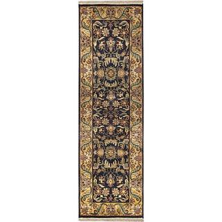 "Hand-Knotted Taj Mahal Semi-Worsted New Zealand Wool Area Rug (2'6"" x 8')"