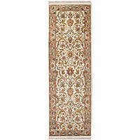 Hand-knotted Salish Semi-worsted New Zealand Wool Area Rug (2'6 x 8')