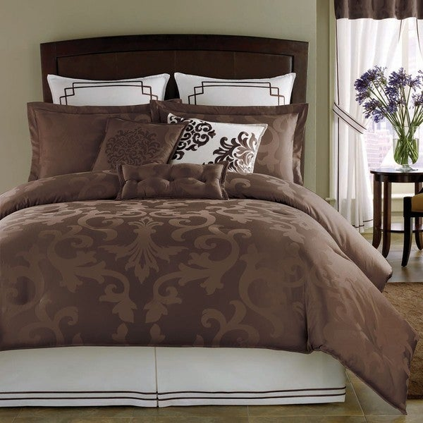 Avalon Chocolate King-size 3-piece Comforter Set