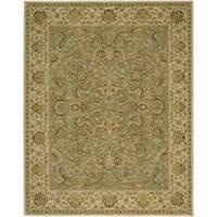 Nourison Parthia Olive Floral Wool Rug - 3'6 x 5'6
