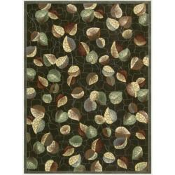 Nourison Parallels Multi/Red Rug (2'3 x 3'9)