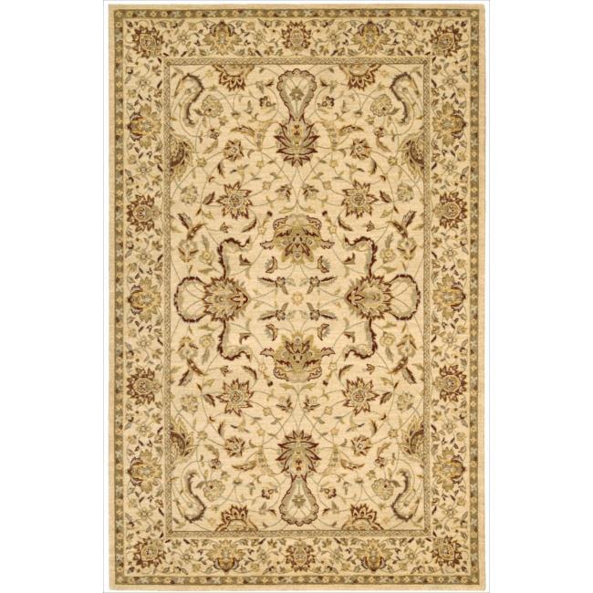 Nourison Parthia Sand Wool Rug - 5'3 x 8'3