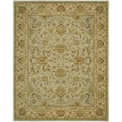 Nourison Parthia Green Floral Wool Rug (3'6 x 5'6)