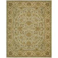 Nourison Parthia Green Floral Wool Rug (3'6 x 5'6)
