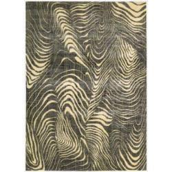 Nourison Parallels Multi/Grey Rug (2'3 x 3'9)