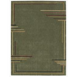 Nourison Parallels Green Abstract Rug (2'3 x 3'9)