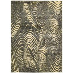 Nourison Parallels Multi/Grey Rug (3'6 x 5'6)