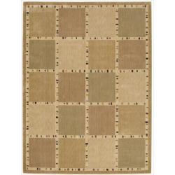 Nourison Parallels Beige Geometric Rug - 5'6 x 7'5 - Thumbnail 0