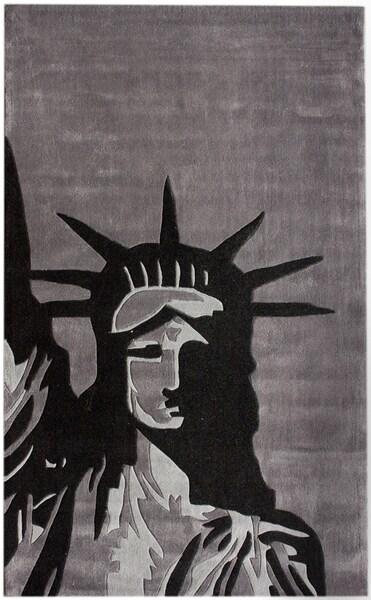 nuLOOM Handmade Pino Statue Of Liberty Rug (7'6 x 9'6)