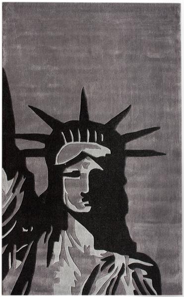 nuLOOM Handmade Pino Statue Of Liberty Rug (5' x 8')