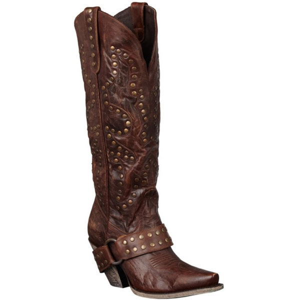 Lane Boots 'Stud Rocker' Women's Leather Cowboy Boots