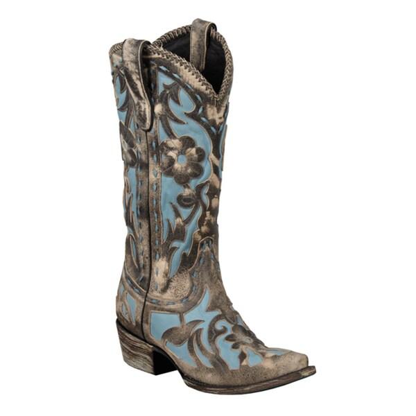 Lane Boots Women's Blue/ Pale Blue 'Poison' Cowboy Boots