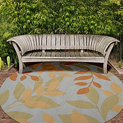 Hand-hooked Columbia Rug (8' Round) - Thumbnail 1