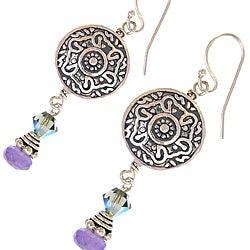 Misha Curtis Vintage Amethyst and Crystal Earrings (Bali)
