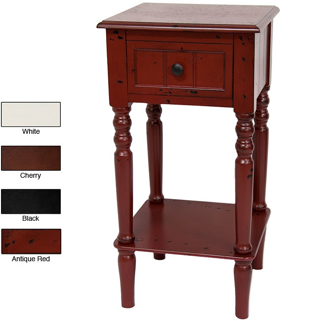 Handmade Wood 28-inch Classic Design Square End Table (China)
