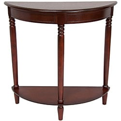 Wood 31-inch Half-Round Console Table (China)