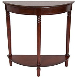 Handmade Wood 31-inch Half-Round Console Table (China) - Thumbnail 1