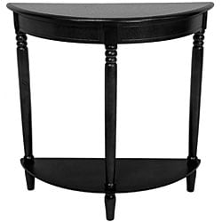 Handmade Wood 31-inch Half-Round Console Table (China) - Thumbnail 2