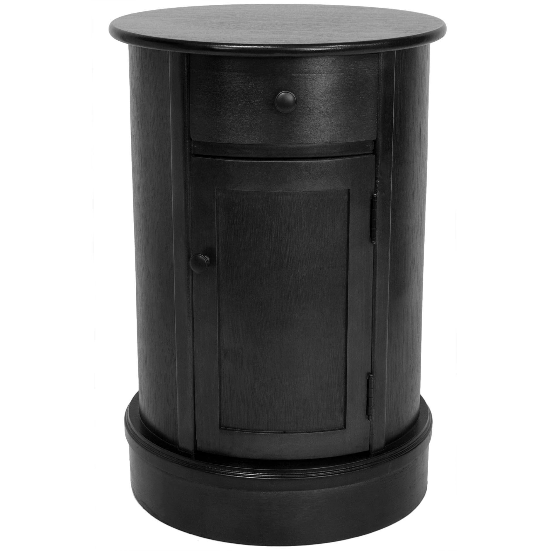 Handmade Wood 26 Inch Oval Nightstand China