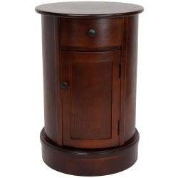 Handmade Wood 26-inch Oval Nightstand (China)