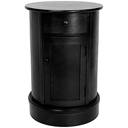 Handmade Wood 26-inch Oval Nightstand (China)