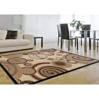 Alise Rugs Flora Contemporary Geometric Area Rug - 7'10 x 10'3