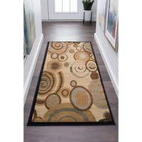 Alise Rugs Flora Contemporary Geometric Runner Rug - 2'7 x 7'3