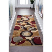 Alise Rugs Flora Contemporary Geometric Runner Rug - multi - 2'7 x 7'3