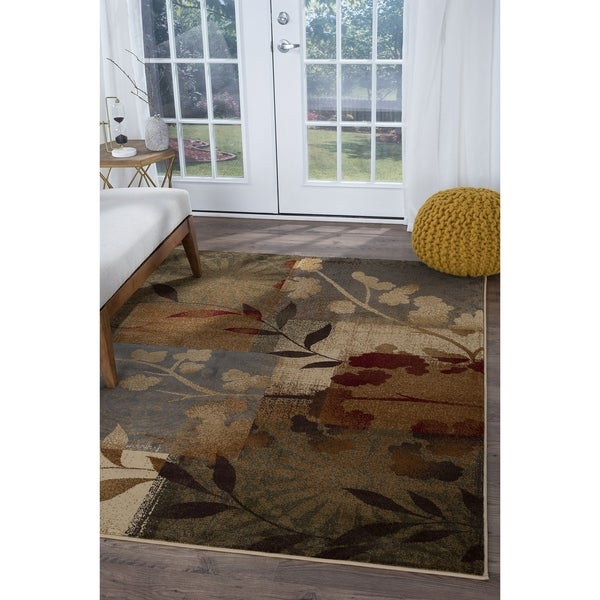Alise Infinity Blue Floral Area Rug - 5'3 x 7'3