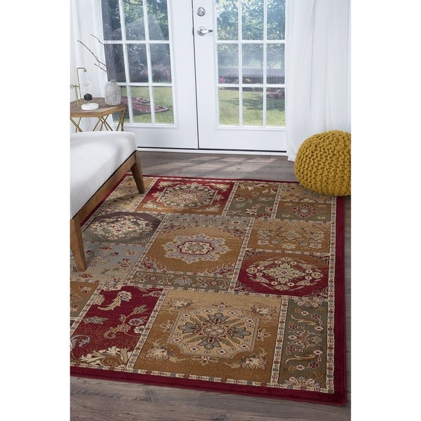 Alise Rugs Infinity Transitional Oriental Area Rug - multi - 5'3 x 7'3