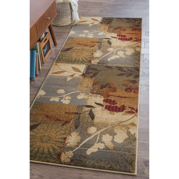 Alise Rugs Infinity Transitional Floral Runner Rug - multi - 2'7 x 7'3