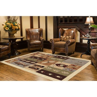 Alise Natural Collection Ivory/ Multi Rug (7'10 x 10'3) - 7'10 x 10'3
