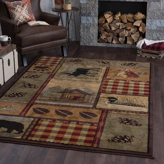 Link to Alise Rugs Natural Lodge Novelty Lodge Scatter Mat Rug Similar Items in Rugs