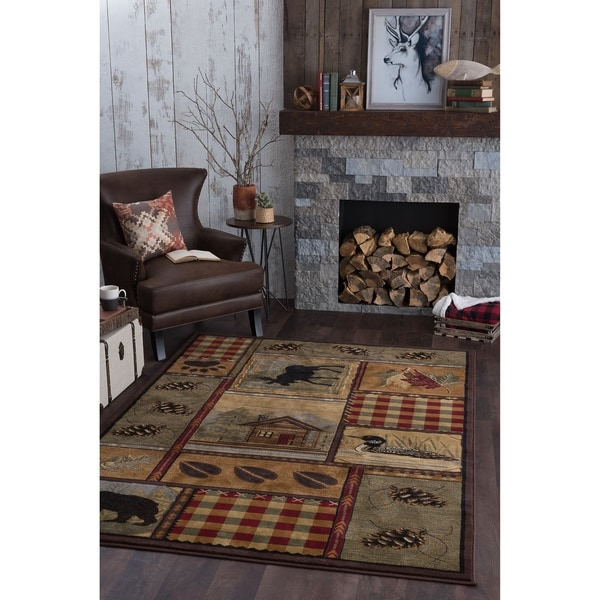 Alise Natural Collection Green Rug - 7'10 x 10'3