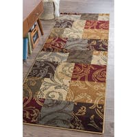 Alise Rugs Infinity Transitional Floral Runner Rug - 2'7 x 7'3