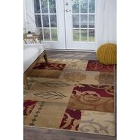 Alise Rugs Infinity Transitional Floral Area Rug - multi - 5'3 x 7'3