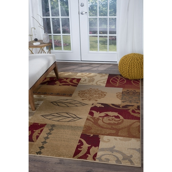 Alise Infinity Red Area Rug - 7'10 x 10'3