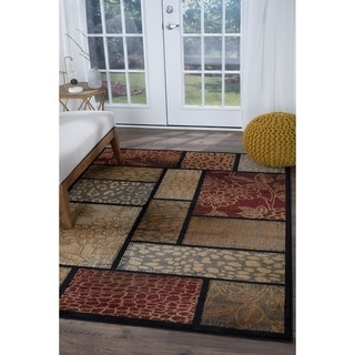 Alise Infinity Brown Area Rug (5'3 x 7'3)