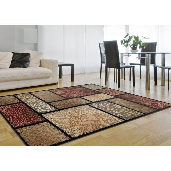 Alise Infinity Brown Area Rug (7'10 x 10'3)