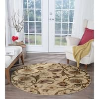 Alise Rugs Infinity Transitional Floral Round Area Rug - multi - 5'3 x 5'3